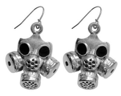 NEW Silver Gas Mask Earrings Fashion Jewellery