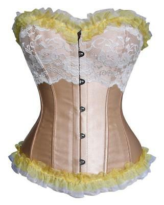 NEW Champagne Overbust Corset Corsets