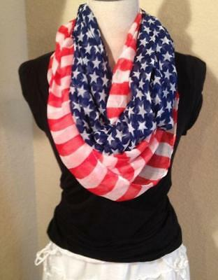 NEW American Flag 4th of July Scarf 4th of July