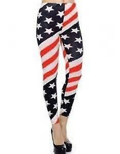 NEW American Flag Leggings 4th of July