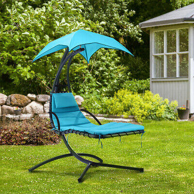garden Helicopter Hammock Chair Hanging Swing Sun Lounger Seat bed W/Cushion UK