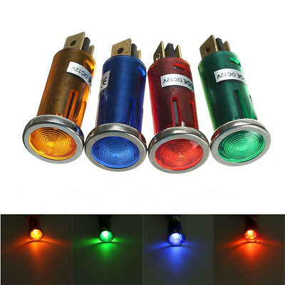 12V Universal Warning Pilot Light Lamp Dash Indicator Motorcycle Car Truck Boat