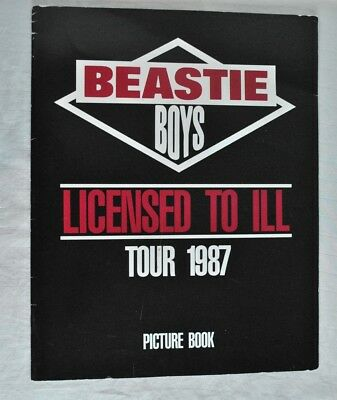Beastie Boys Licensed To Ill 1987 Tour Picture Book
