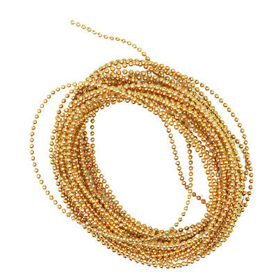 5m Gold Beads Ribbon Trim String Chain for Nail Art Decoration Craft 15mm