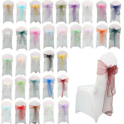 Organza Chair Cover Sashes Fuller Bows Anniversary Reception Party Events Decor