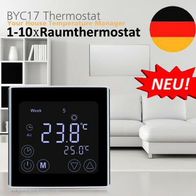 Digitaler LCD Thermostat Raumthermostat Fußbodenheizun mit Backlight BYC17.GH3