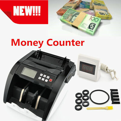 Money Counter Easy Counting Notes Cash Counterfeit Detector Fast Detect Fake AUD