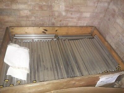 BZP STEEL 30mm DIA ROLLERS QUANTITY 952 SPRUNG 8mm SPINDLE 530mm LG FREE UK POST