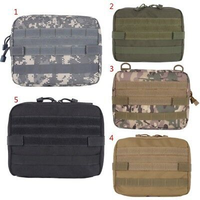 AU 1000D Nylon Molle Tactical Military EDC Utility Tool Bag First Aid Pouch Case