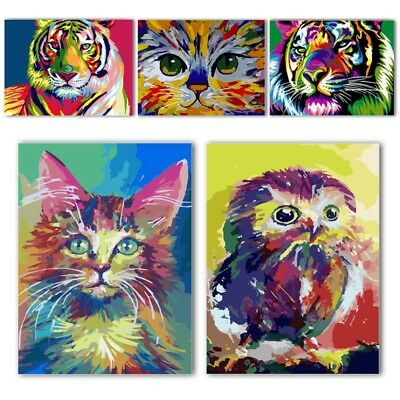 30*40cm Animal Paint By Number Kit DIY Acrylic Oil Painting On Canvas Home Decor