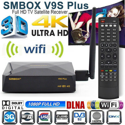 GENUINE SMBOX V9S HD Freesat Smart TV Satellite Receiver Box For Skybox F5S  UK