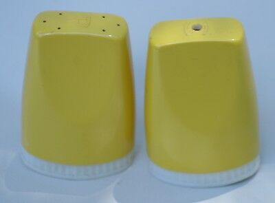 Collectable Retro Vintage Mustard Yellow Designer Salt And Pepper Shakers 1960