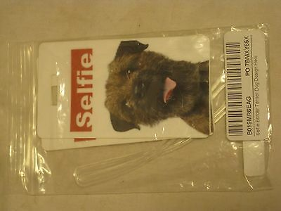Luggage tags Selfie Border Terrier Dog Rikki Knight Flexi  tag + loops