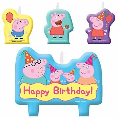 Party Supplies Peppa Pig Cake Candle Set 4 Piece Decoration Genuine