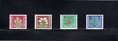 Belgium 1950 Anti-tuberculosis and other funds - Flowers SG 1326/9 MH