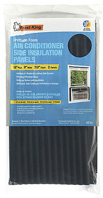 """Window Air Conditioner Foam Side Panels, 9 X 18 X 7/8"""", 2 Pack, Thermwell, AC14H"""