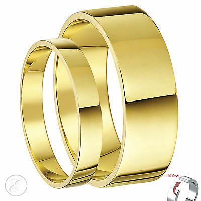 His & Hers 9 Ct Or jaune plat BAGUE MARIAGE BANDEAU 3 et 6 mm 5&6mm