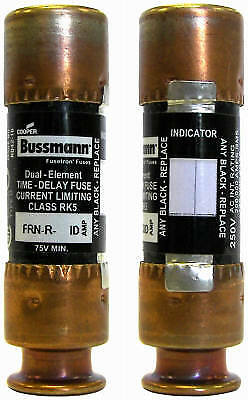 2 Pack 20a 250v Indicating Fuse, Bussmann, BP/FRN-R-20ID