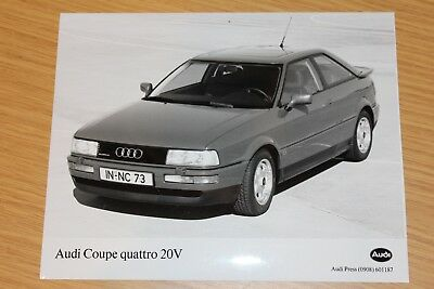 Audi Coupe Quattro 20V 1897 Large Format Press Photograph