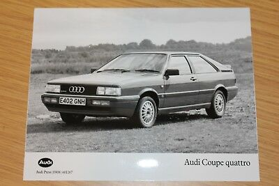 Audi Coupe Quattro  1897 Large Format Press Photograph