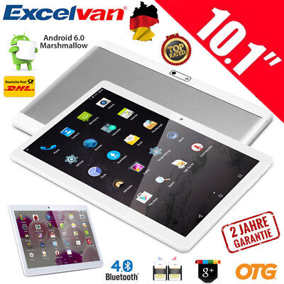 10.1 ZOLL TABLET PC QUADCORE ANDROID 6.0 16GB Dual SIM/Cam 3G+WIFI GPS OTG FM DE