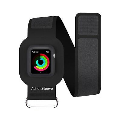 """Apple Watch Adjustable Action sleeve Armband for 38mm 15"""" Upper Arm Band Black"""