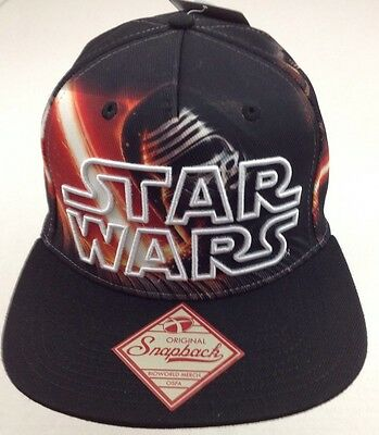 Star Wars Episode 7 Kylo Ren Baseball Hat Cap SnapBack Black Disney Mens One Sz