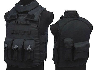 Airsoft Combat Paintball Military Uniform Gear S.D.U Version 4 Nylon Vest Black