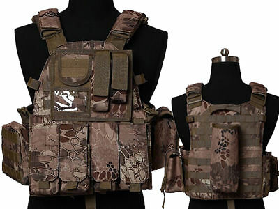 Tactical Multi Attack Molle Combat Vest Magazine Pouch Airsoft Paintball BNE