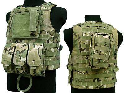 Tactical Assault Molle Combat Vest Magazine Pouch Airsoft Paintball Military CP