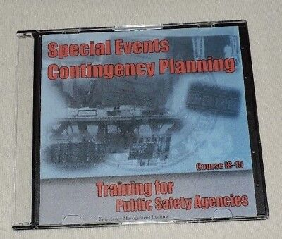 Special Events Contingency Planning Training for Public Safety Agencies EMI DVD