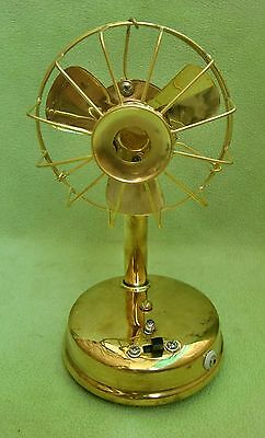 Vintage Excellent Mini Small Brass  Fan (Brass Blade), Battery A+ Collectible