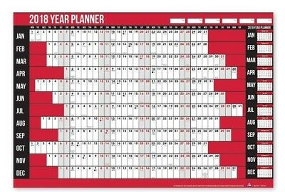 2018 A1 Year Wall Planner Holiday Planner Include Pen & Stickers Office or Home