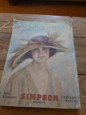 Simpson 1921 Spring and Summer Catalogue Sears Halifax