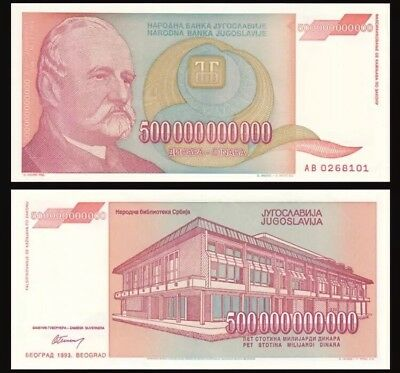 YUGOSLAVIA 500 Billion Dinara, 1993, P-137, World Currency