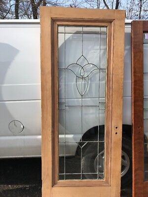 OXF9 antique beveled in flat glass French door 34 x 83.2