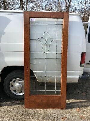 OXF 10 antique tulip Beveled Glass entrance French door 36 x 795/8
