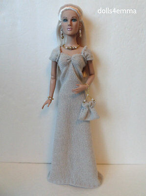 Tonner TYLER Doll Clothes Shimmery GOWN & PURSE & JEWELRY HM Fashion NO DOLL d4e