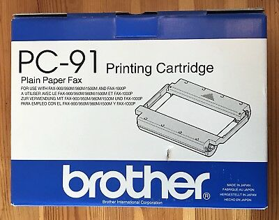 Brother Pc-91 Plain Paper Fax Printing Cartridge Toner - New!