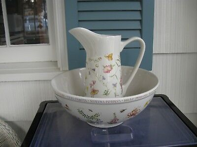 Hallmark's Marjolein Bastin Nature Sketchbook pitcher and large bowl