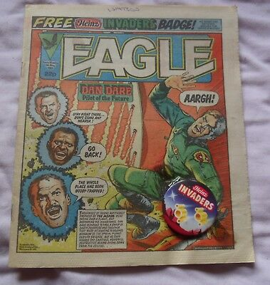 Eagle Comic 5th May 1984 With Free Gift Heinz Invaders Badge