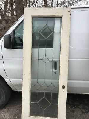 Oxf  27 Painted Leaded Double Entry Door 30 X 79 I 1.75