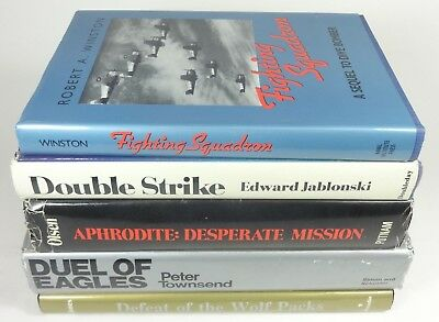 Lot of (5) WWII Aviation History, Military Airplane Aircraft War Hardcover Books