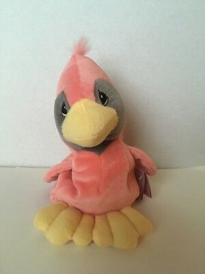 "Precious Moments Tender Tails  7"" Cardinal Bird Bean Bag Plush w/ Tags 1998"