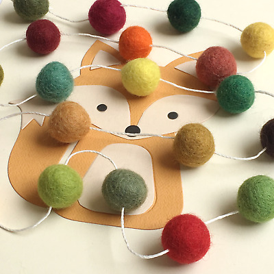 Woodland Nursery, Felt Ball Garland, Pom Pom, Nursery hanging decoration, Teepee