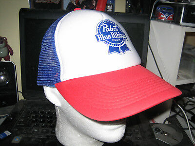 Pabst Blue Ribbon Beer Baseball Hat Cap Adult One Size Pbr Snapback Trucker