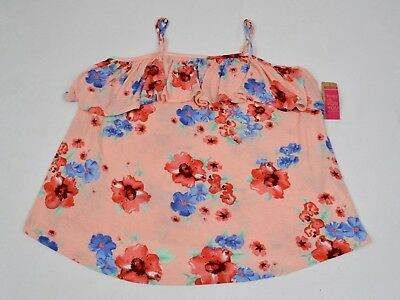 8a0b0cfd6b ARDENE WOMENS PINK Floral Super Soft Blouse with Spaghetti Straps, L ...