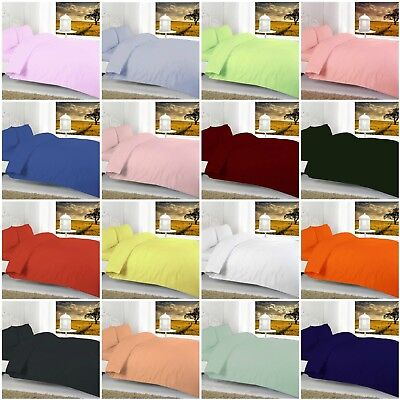 Luxury Cotton Bled FITTED BED SHEETS Soft all Sizes Deep Fit Elasticated Bottom