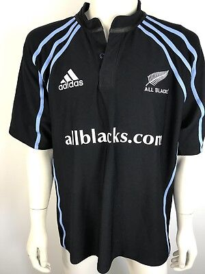 RUGBY UNION All Blacks Polo Shirt- Size 2XL - Rare Supporters Shirt - Official