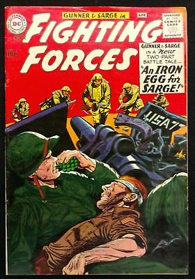 Our Fighting Forces #54 1960 Glossy Vg/fn Nice Gunner+Sarge 3 Great Stories!